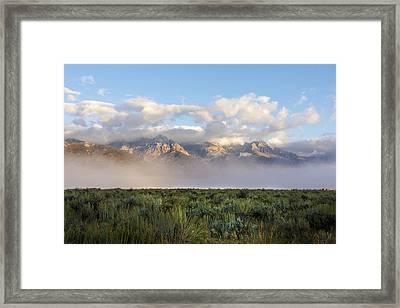 Foggy Teton Sunrise - Grand Tetons National Park Wyoming Framed Print by Brian Harig