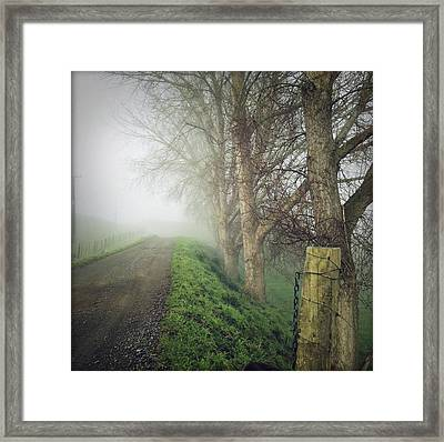Foggy Trail Framed Print by Les Cunliffe