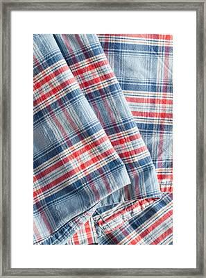 Folded Fabric Framed Print by Tom Gowanlock