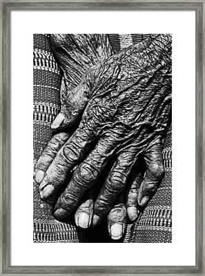 Folded Hands 2 Framed Print by Skip Nall