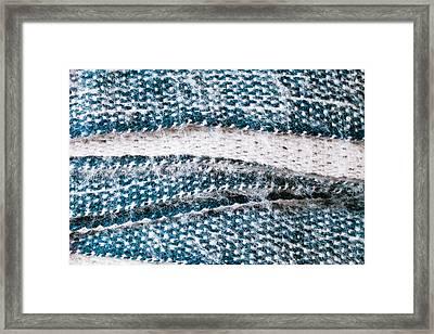 Folded Scarf Framed Print by Tom Gowanlock
