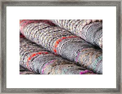 Folded Textile Framed Print by Tom Gowanlock
