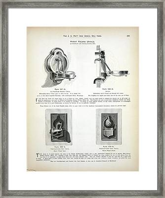 Folding Urinal Patent Framed Print by New York Public Library