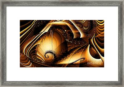 Folds In Time Framed Print by Peter R Nicholls