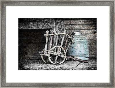 Folk Art Cart Still Life Framed Print by Tom Mc Nemar