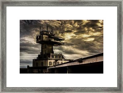 Folkestone Harbour Control Framed Print by Ian Hufton