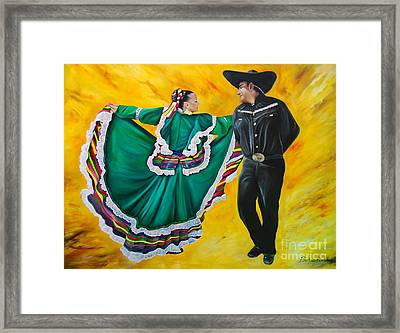 Folklorico Dancers  Framed Print by Barbara  Rivera