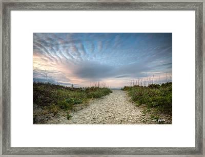 Follow Me Framed Print by Walt  Baker