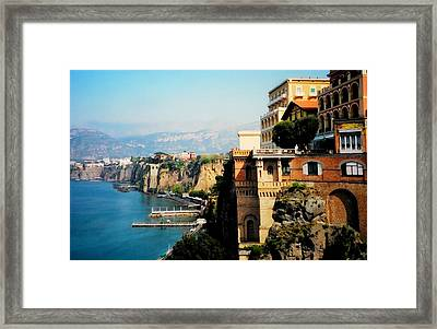 Follow My Heart To Sorrento Framed Print by Diana Angstadt