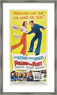 Follow The Fleet, Top L-r Ginger Framed Print by Everett