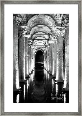 Follow The Lights Framed Print by John Rizzuto