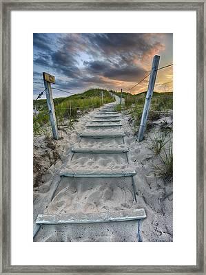 Follow The Path Framed Print by Sebastian Musial