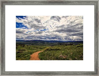 Follow The Path Framed Print by Tony Boyajian