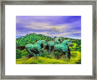 Follow The Yellow Brick Road Framed Print by Betsy C Knapp