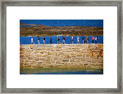 Follow The Yellow Brick Road Framed Print by Terri Waters