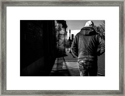 Following Framed Print by Bob Orsillo
