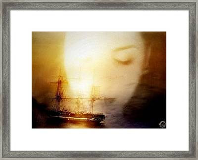 Following Him In Her Mind Framed Print by Gun Legler