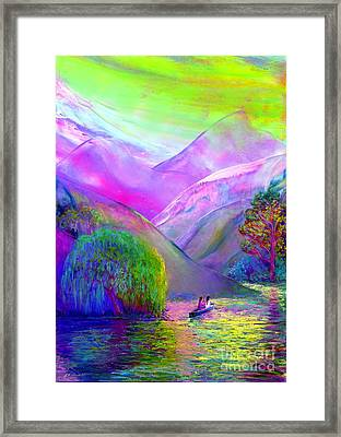 Love Is Following The Flow Together Framed Print by Jane Small