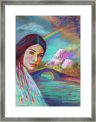 Following The Rainbow Framed Print by Jane Small