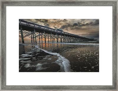Folly Beach Dawn Framed Print by Mike Lang