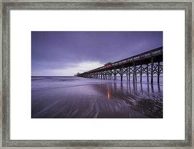 Folly Beach Pier Framed Print by Joseph Rossbach