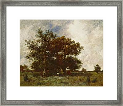 Fontainebleau Oak Framed Print by Jules Dupre