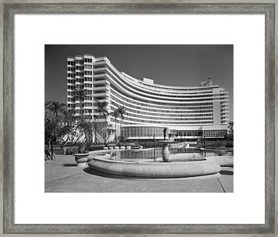 Fontainebleu Hotel Miami Beach 1955 Framed Print by Mountain Dreams