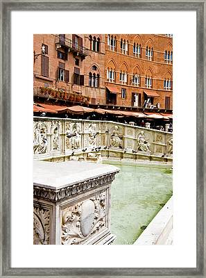 Fonte Gaia Siena Framed Print by Mathew Lodge