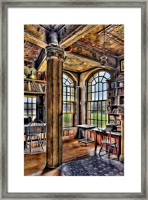 Fonthill Castle Office Framed Print by Susan Candelario