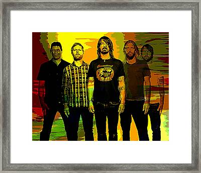 Foo Fighters Framed Print by Marvin Blaine