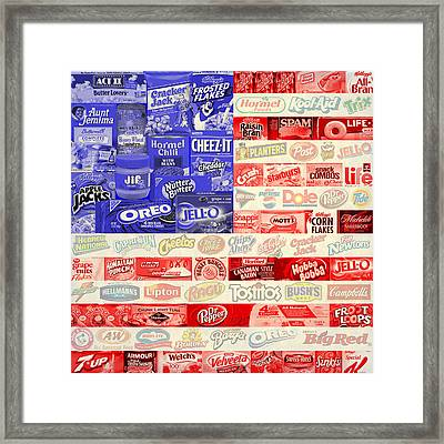 Food Advertising Flag Framed Print by Gary Grayson