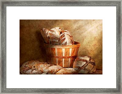 Food - Bread - Your Daily Bread Framed Print by Mike Savad
