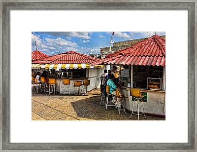 Food Counters Framed Print by Linda Phelps