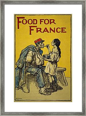 Food For France, 1918 Framed Print by Francis Luis Mora