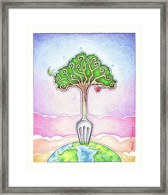 Food For Life Framed Print by Pop Art Diva