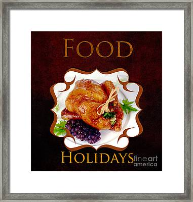 Food Holiday Gallery Framed Print by Iris Richardson