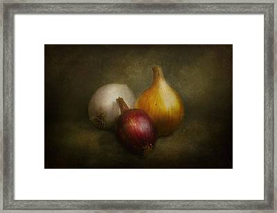 Food - Onions - Onions  Framed Print by Mike Savad