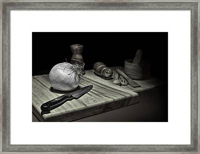Food Prep Still Life Framed Print by Tom Mc Nemar