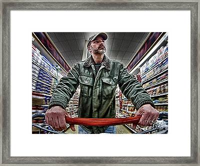 Shopping Cart Framed Print featuring the photograph Food Shopping by Mark Miller