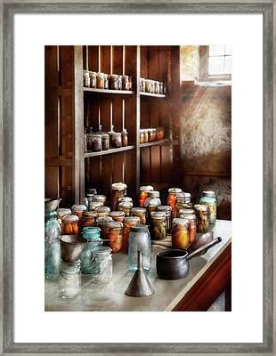Food - The Winter Pantry  Framed Print by Mike Savad