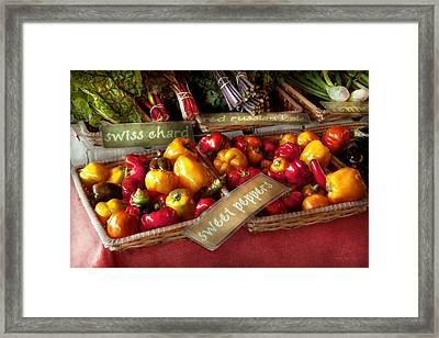Food - Vegetables - Sweet Peppers For Sale Framed Print by Mike Savad