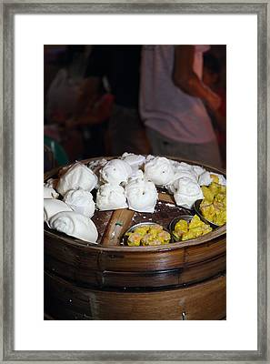 Food Vendors - Night Street Market - Chiang Mai Thailand - 011310 Framed Print by DC Photographer