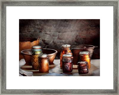 Food - Winter Reserve Framed Print by Mike Savad