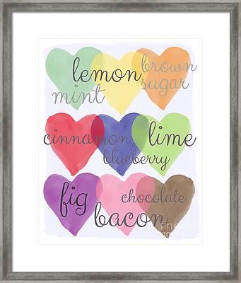 Foodie Love Framed Print by Linda Woods