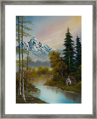Mountain Sanctuary Framed Print by C Steele