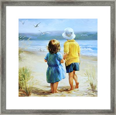 Foot Prints Framed Print by Laurie Hein