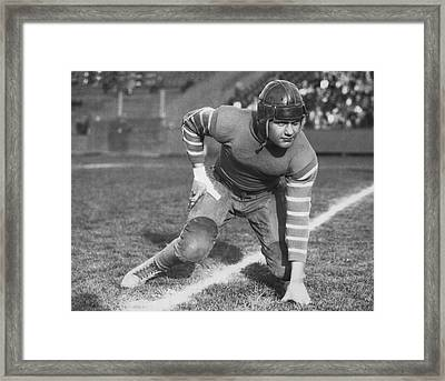 Football Fullback Player Framed Print by Underwood Archives