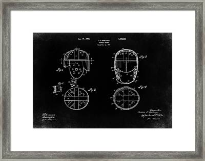 Football Helmet 1926 - Black Framed Print by Mark Rogan