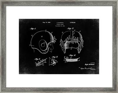 Football Helmet 1956 - Black Framed Print by Mark Rogan