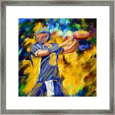 Football I Framed Print by Lourry Legarde
